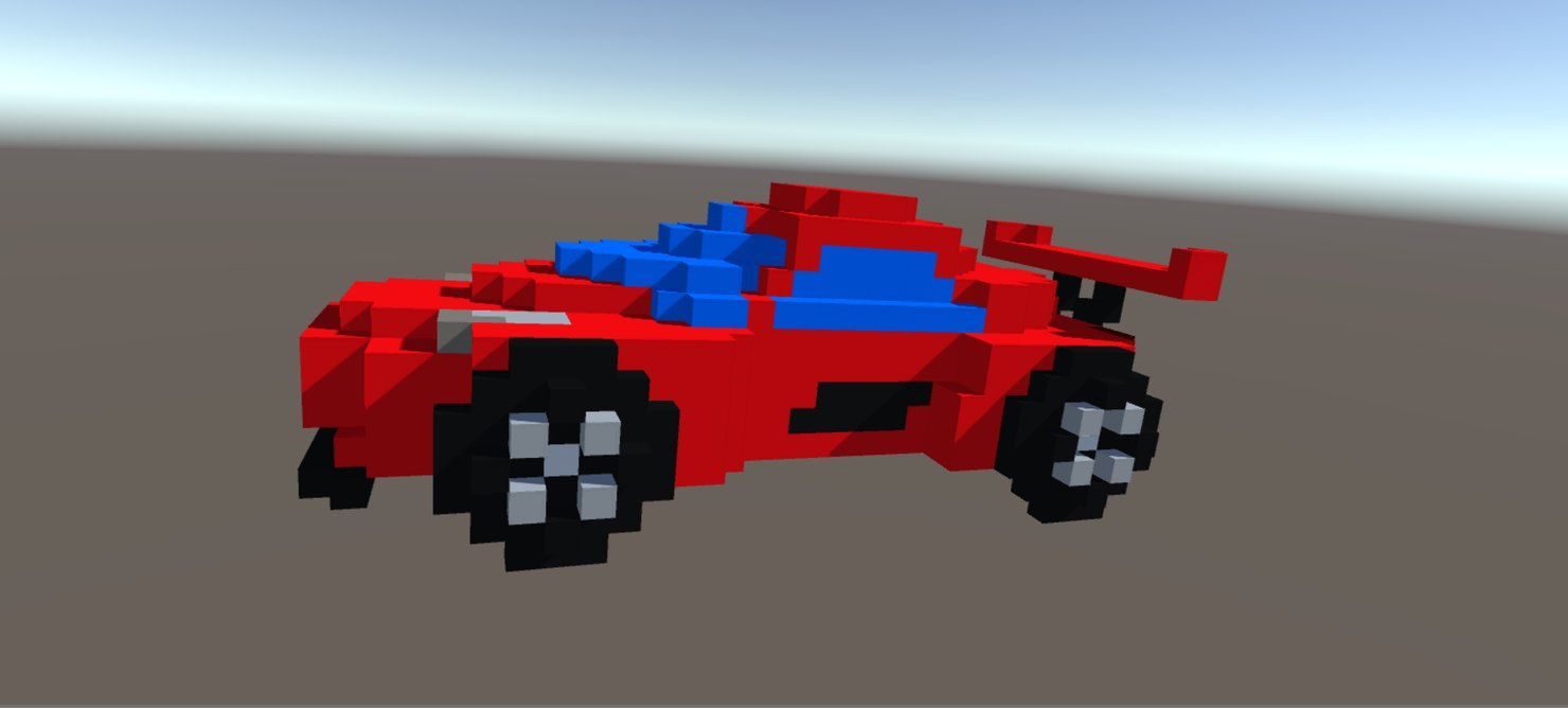 3D model voxel art agera r
