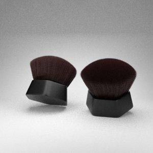 3D modern kabuki brush