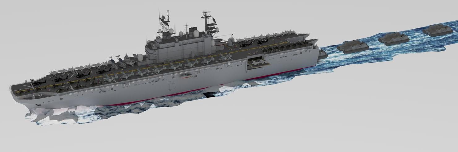 united states navy uss 3D model