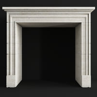 3D vieilles fireplace 137 model