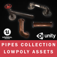 3D pipes games assets
