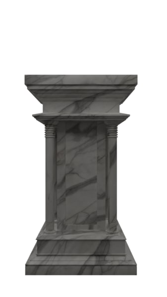 3D model pedestal marble