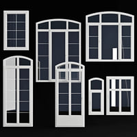Wooden windows arc collection