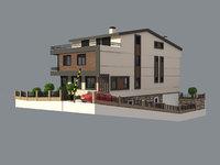 3D realistic villa model