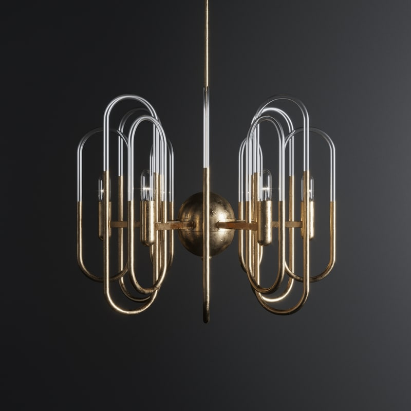 design chandelier gaetano sciolari 3D model