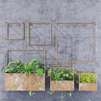3D cube shelves model