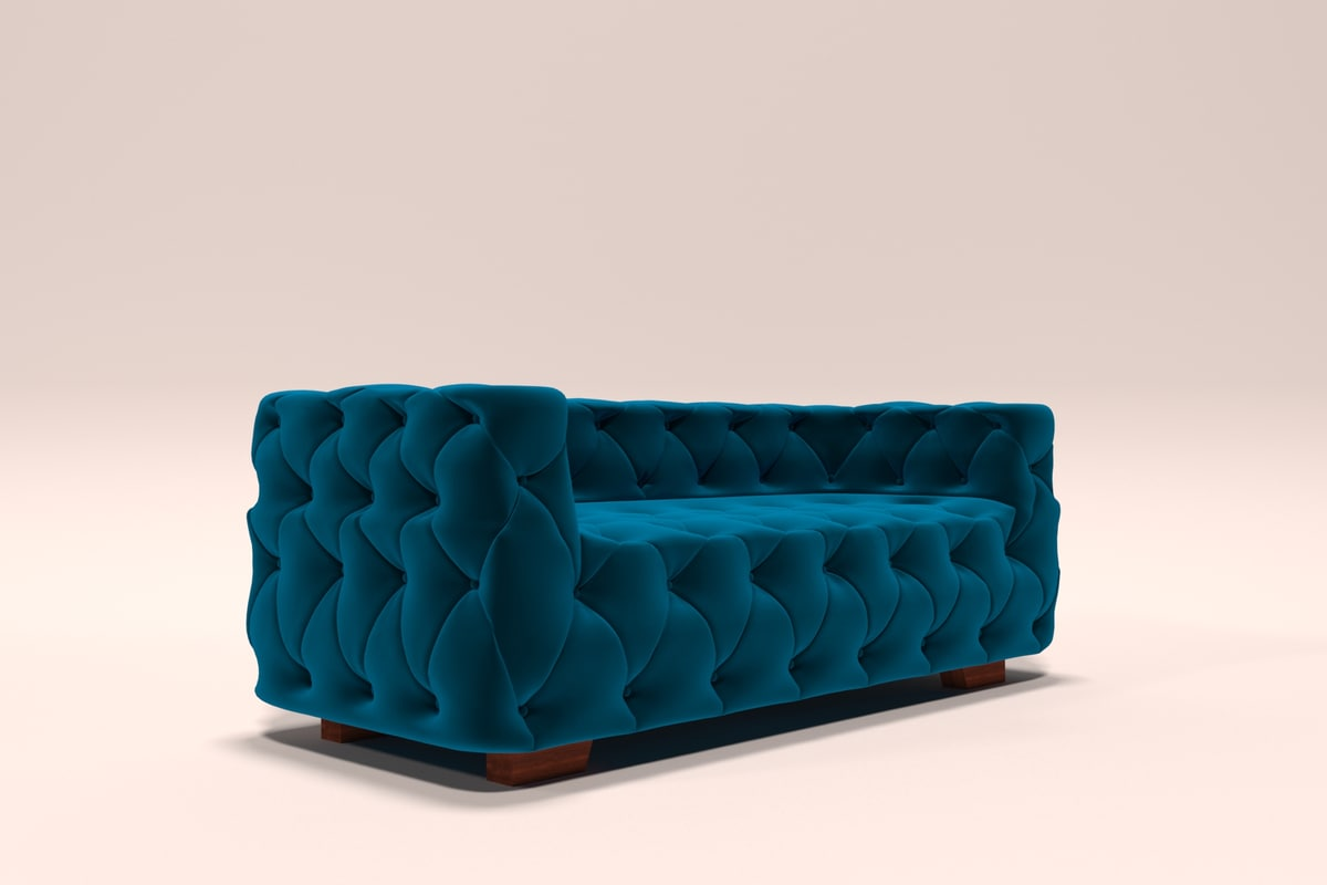 3D chesterfield sofa model
