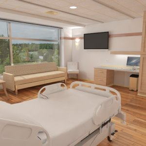 room hospital 3D model