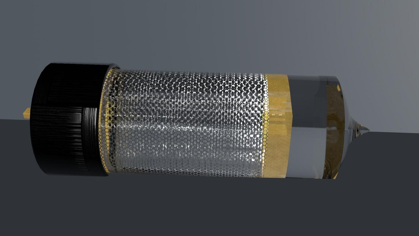 3D nixie tube model