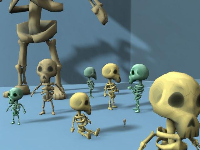3D model small skeleton