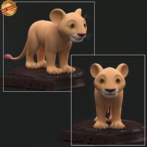 cub lion 3D model