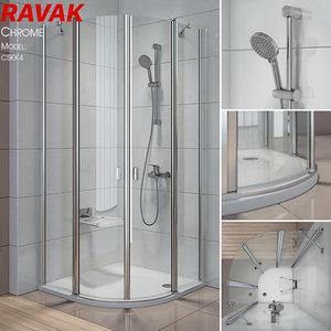 shower ravak chrome model