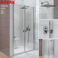 3D shower ravak chrome