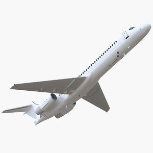 3D boeing 717-200 generic rigged