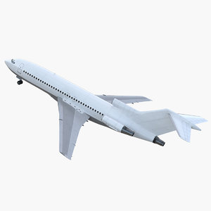 boeing 727-100 generic rigged 3D