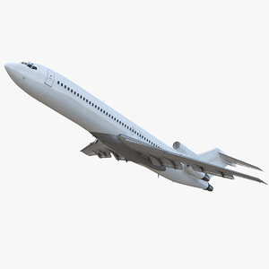 3D boeing 717-200 generic rigged model