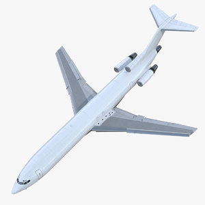 3D boeing 727-200f generic rigged