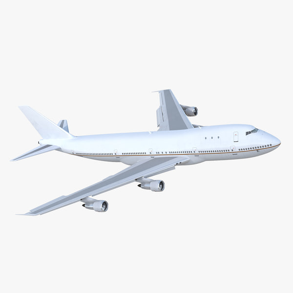 boeing 747-100b generic rigged 3D model