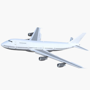 3D model boeing 747-200b generic rigged