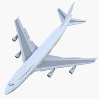 3D boeing 747-300 generic rigged