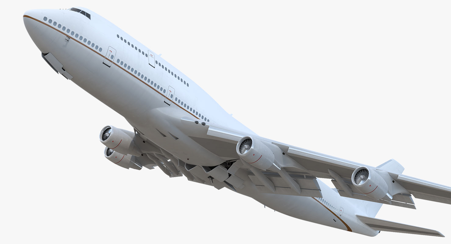 boeing 747-400 generic rigged 3D model