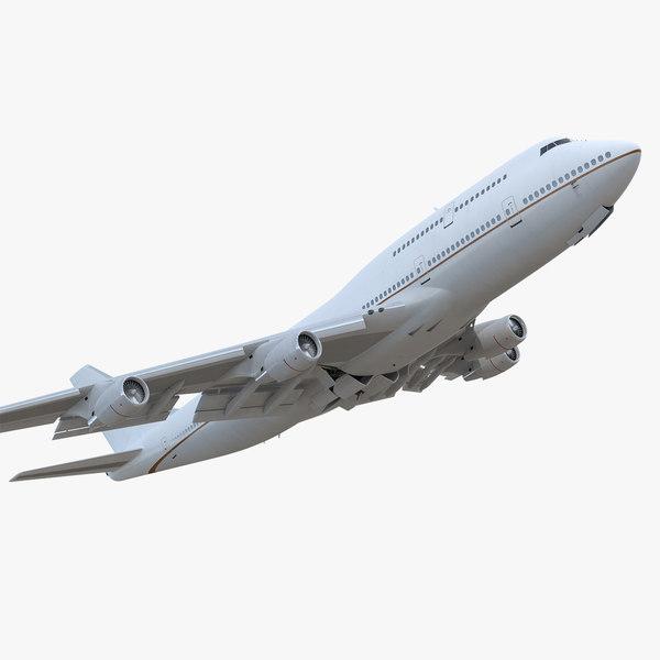 boeing 747-400er generic rigged 3D