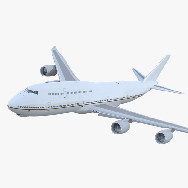 3D boeing 747-8i generic rigged