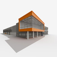 3D industrial building VIVENGE model hall