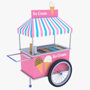 3D ice cream cart model