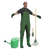 gardener man model