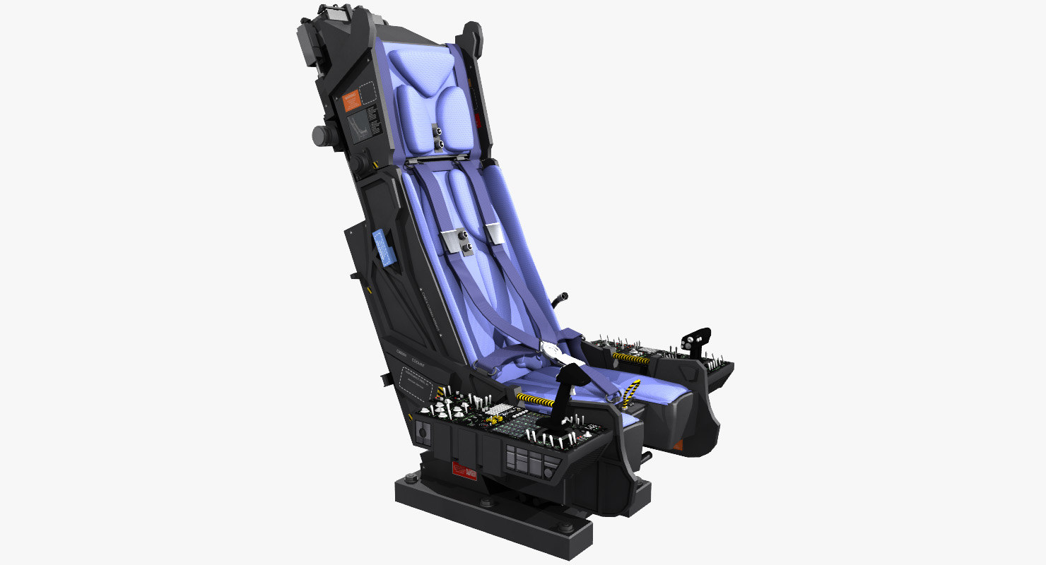 ejection seat instruments boards 3D model