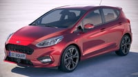 fiesta st-line 5-door 3D model
