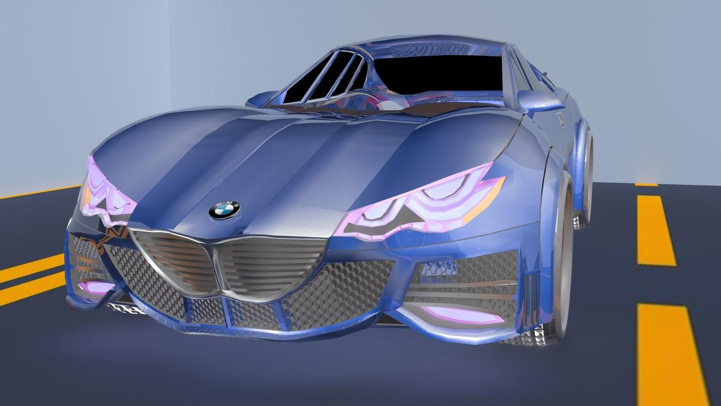 3D sport concept car design model
