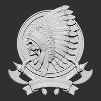 tomahawk skull 3D