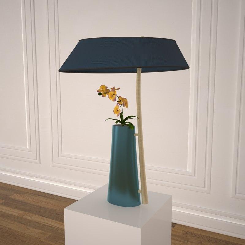 3D model ingrand vase lamp