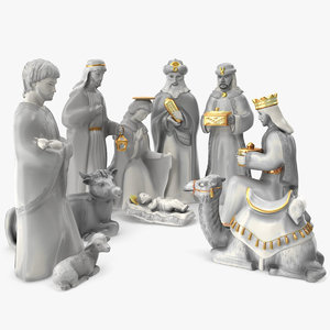 nativity set 3D model