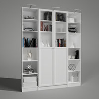 shelf books decor 3D model