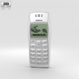 3D nokia 1100 white