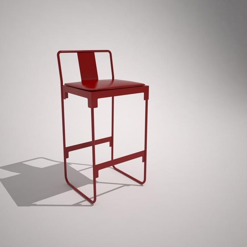3D mingx bar stool model