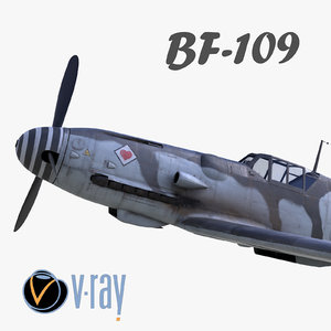 bf-109 german fighter modelled model