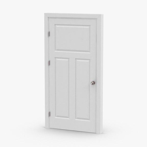3D interior-doors---door-2-closed model