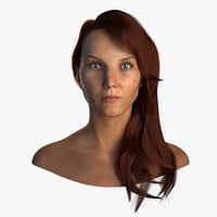 female head 3D