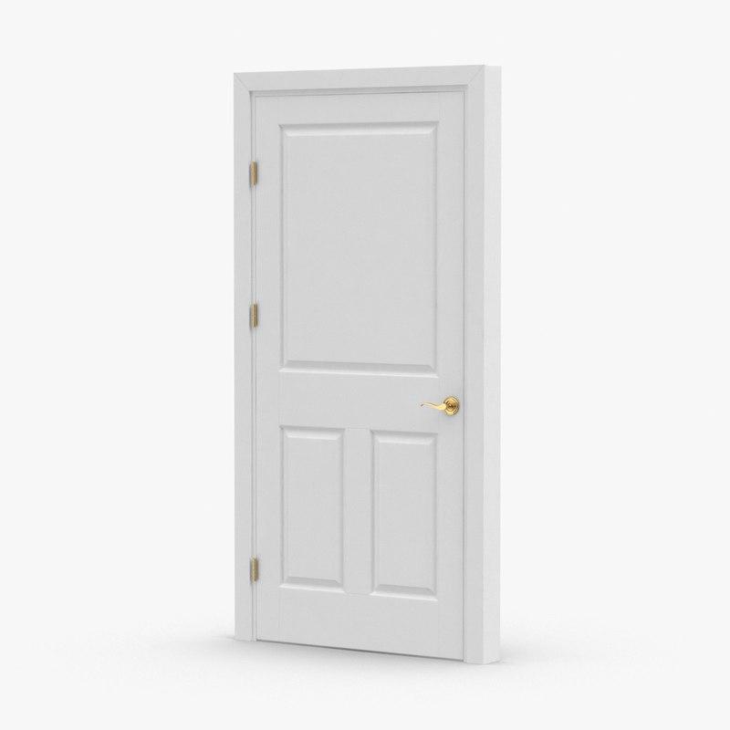 3D interior-doors---door-3-closed
