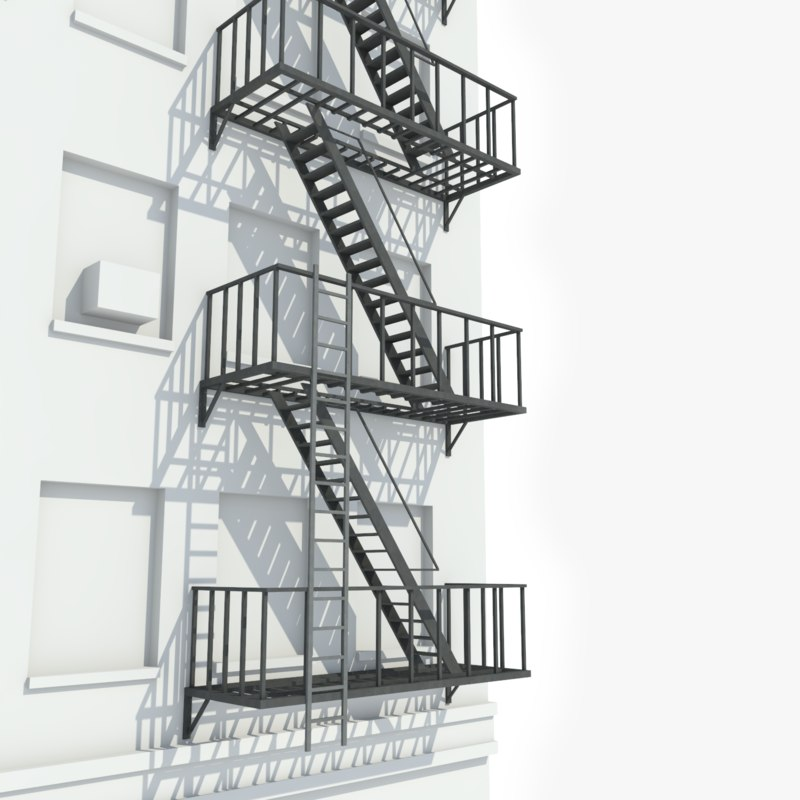 ready escape stairs 3D model