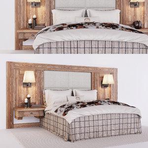 3D model chalet stile bed