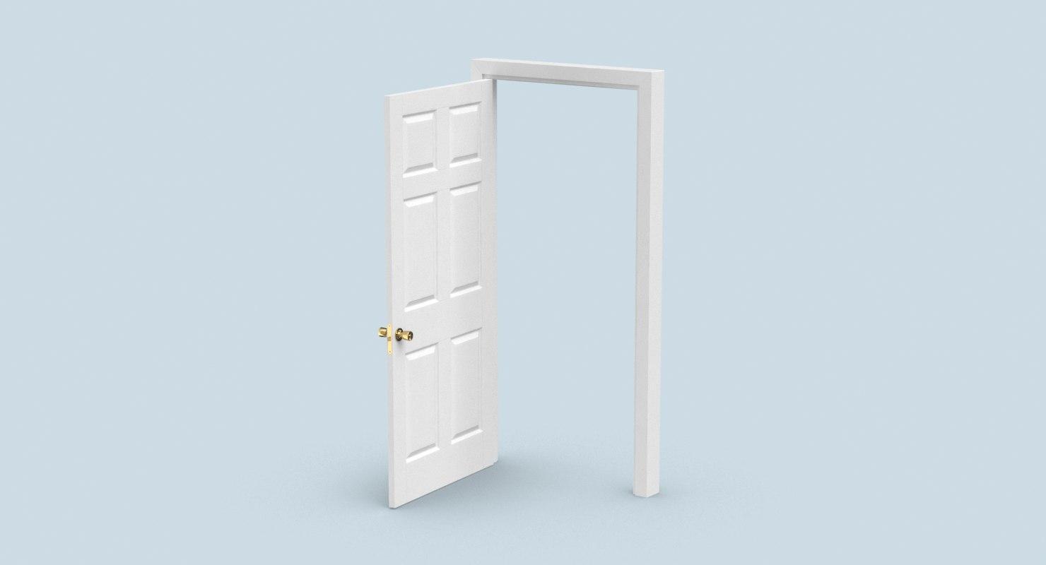 wide open doors. 3D Interior-doors---door-6-wide-open Model Wide Open Doors