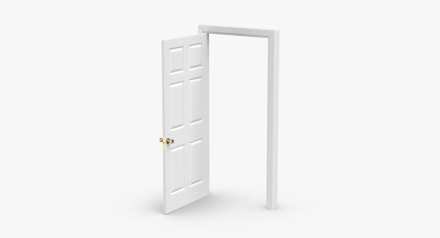 3D interior-doors---door-6-wide-open model