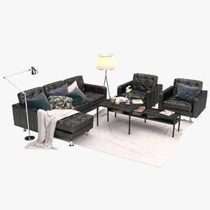 living room set 3D