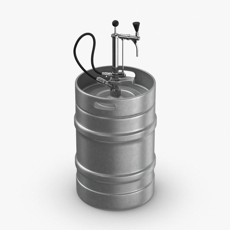 3D model beer-keg- full-size