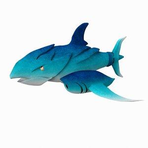 shark metal 3D model